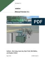 Bentley Substation Instruction Manual v 3.1