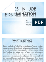 Ethics in Job Discrimination.ppt