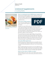 13  multivitamin and mineral supplements quickfacts