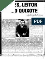 BARBOSA, João Alexandre. Borges, Leitor Do Quixote.
