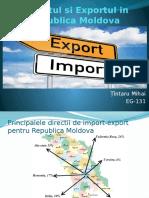 Importul Si Exportul in Republica Moldova