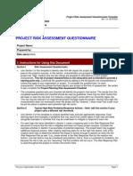 Risk Assessment Questionnaire Template