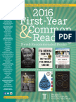Random House First-Year & Common Reading Catalog 2016