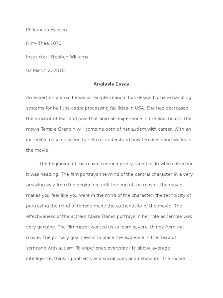Essay Writing In French  Best Essay Sites also Essay On Saving Private Ryan Analysis Essay Temple Grandin  Autism  Mind Hamlet Essay Topic