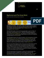 Baphomet and the Great Work _ GnosticWarrior.com