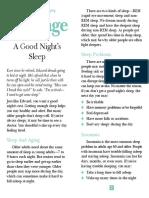 a good nights sleep 0