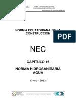 Nec-cap16 Instalaciones Hidrosanitarias 2013