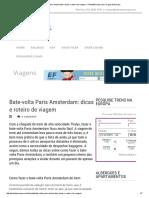 Bate-Volta Paris Amsterdam_ Dicas e Roteiro de Viagem » PlanetaEuropa