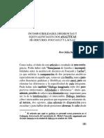 Incompatibilidades Diferencias y Equivalencias en Dos Analiticas de Discurso Foucault y Laclau