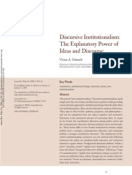 Schmidt, V.a. Discursive Institutionalism. the Explanatory Power of Ideas and Discourse