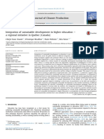 Integration of Sustainable Development in Higher Education PDF a Regional Initiative in Quebec (Canada)