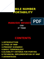 Project on Mobile Number Portability