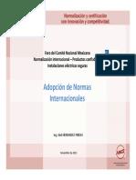 Uso Adopcion Normas IEC Mexico