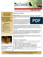Sevier County Humane Society Newsletter 2016 Mar Apr