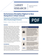 Exclusionary Discipline Highest in New Hampshire-s Urban Schools