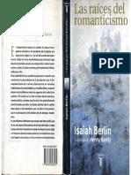 Isaiah Berlin, Las Raíces Del Romanticismo (1)