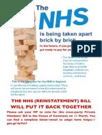 NHS Bill Leaflet Calderdale