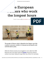 Greeks Work the Longest Hours in Europe - Independent
