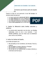 Unidad 5 El Territorio de España y de Europa