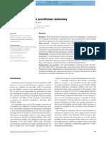 Understanding Nurse Practitioner Autonomy