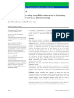 Capability Framework for Developing Practice Standards of APNs