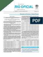Diario oficial de Colombia n° 49.801. 29 de febrero de 2016