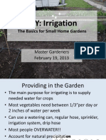 Irrigation for Small Spaces