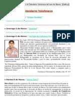 CALENDARIO VAISHNAVA DE MARZO