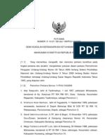 Putusan MK Tentang JR UU BHP Dan UU Sisdiknas