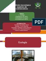 1.-Ecología,  2.Remedicion de suelos,  3.Saneamiento de aguas  4.Accidentes petroleros   &