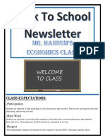 hannum back to school newsletter