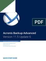 AcronisBackupAdvanced 11.5 Quickstart en-US