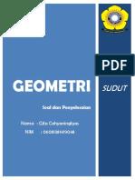 Latihan Geometri -  Sudut