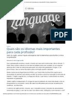 Quais São Os Idiomas Mais Importantes Para Cada Profissão_ _ G Ideias _ Gazeta Do Povo