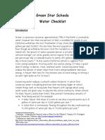 Water Checklist