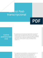 Control Post-transcripcional