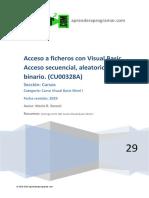 CU00328A Acceso Ficheros Visual Basic Acceso Secuencial Aleatorio Binario