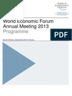 Davos 2013 Program