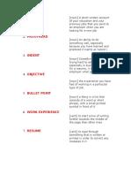 Resume and Word Vocabulary Matching