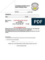 Oliver Agricultural Society Membership/Volunteer Form