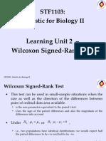 LU2-b - Wilcoxon Sign-Ranked Test