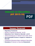 6_Interest on Securities_AY 2015-16