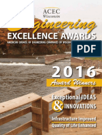 2016 ACEC Wisconsin Engineering Excellence Awards publication