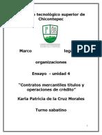 """unidad 4 """"Contratos mercantiles títulos y operaciones de crédito"""""""