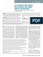 De novo stress urinary incontinence after negative prolapse reduction stress testing for total vaginal mesh procedures incidence and risk factors