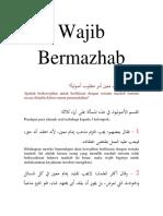 Wajib Bermazhab_Mohammad Hidir Baharudin