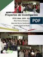 Proyectos de Investigación 2009-2010 (PFPD UNAL)