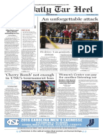 The Daily Tar Heel for March 3, 2016