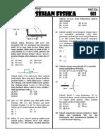 Soal Fisika Latihan SBMPTN
