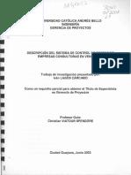 Ucab)Descripcion Del Sistema de Control de Costo d Empresas Consultoras en Vzula